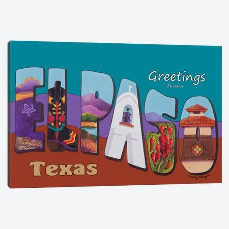 El Paso Postcard Canvas Print #CMY17} by Candy Mayer Canvas Print