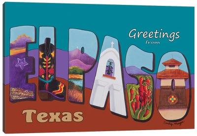 El Paso Postcard Canvas Art Print