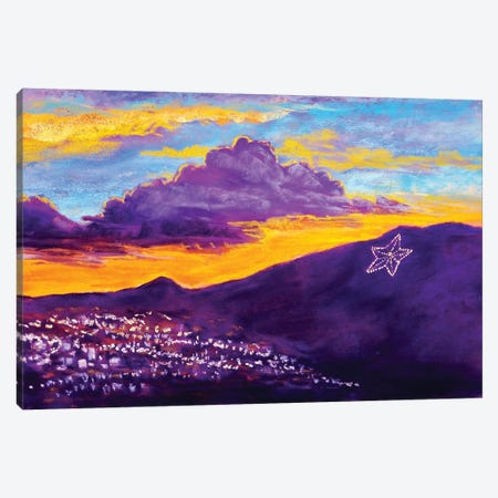 El Paso Star On The Mountain Canvas Print #CMY18} by Candy Mayer Canvas Artwork
