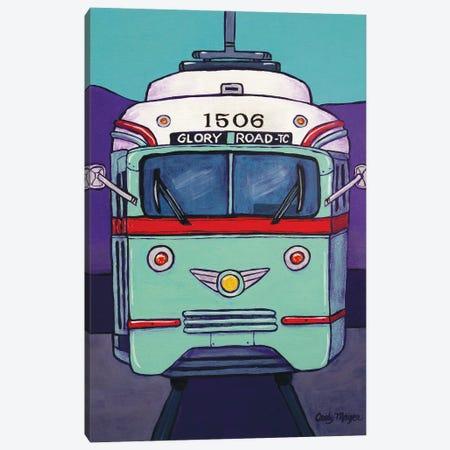 El Paso Streetcar Canvas Print #CMY19} by Candy Mayer Canvas Wall Art