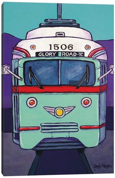 El Paso Streetcar Canvas Art Print
