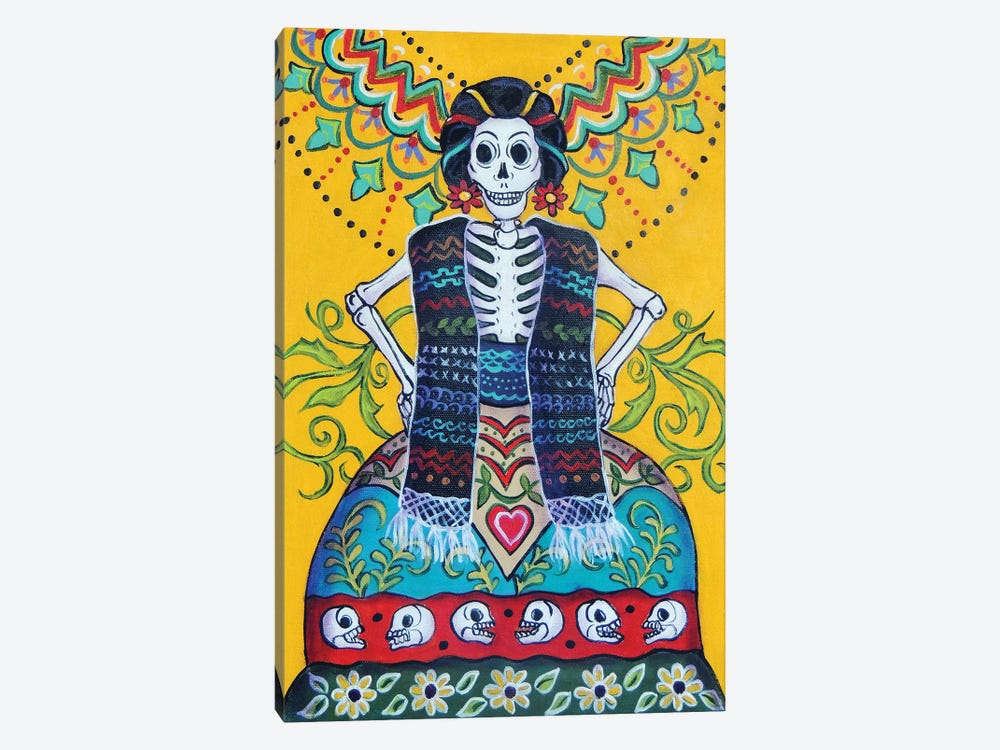 Folkart Frida by Candy Mayer 1-piece Canvas Art Print