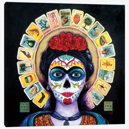 Frida Loteria Canvas Print #CMY21} by Candy Mayer Canvas Print