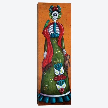 Frida With Monkey Canvas Print #CMY22} by Candy Mayer Art Print
