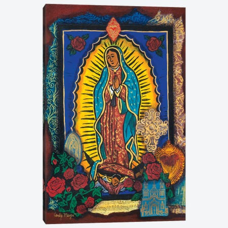 Guadalupe Collage Canvas Print #CMY25} by Candy Mayer Canvas Art