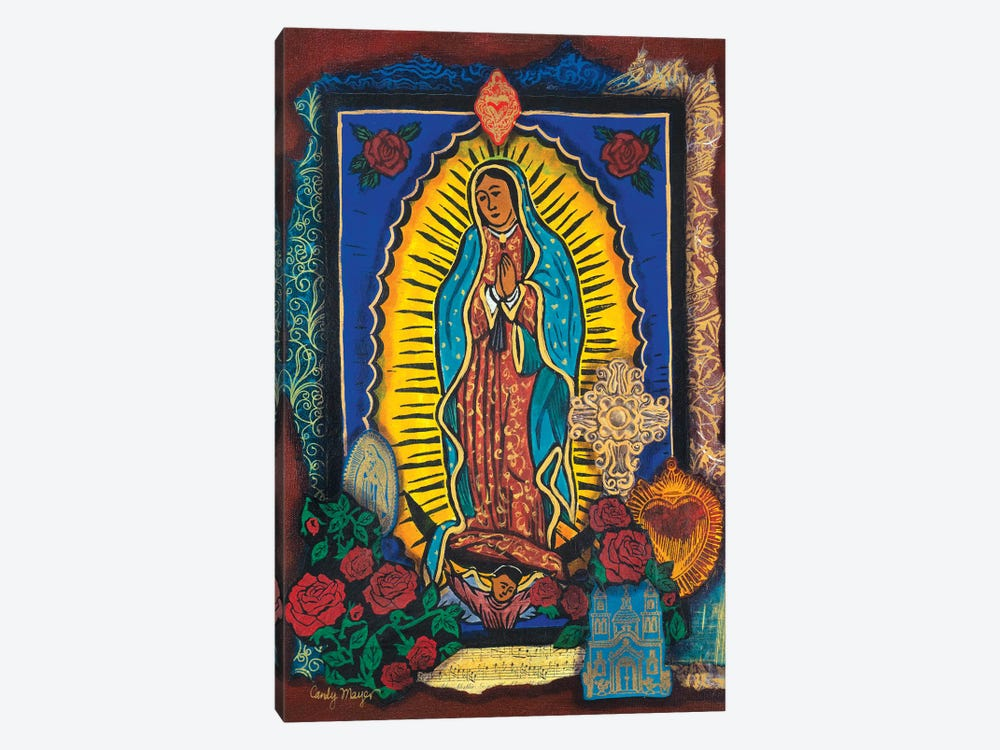 Guadalupe Collage by Candy Mayer 1-piece Canvas Wall Art