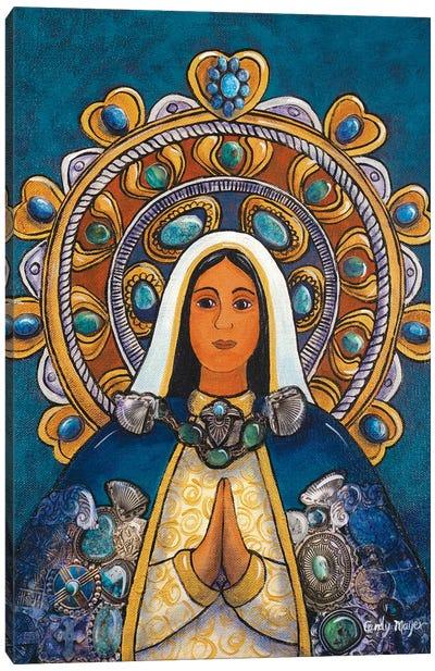 Madonna With Halo Canvas Art Print
