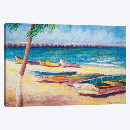 Mexican Beach Canvas Print #CMY35} by Candy Mayer Canvas Art Print