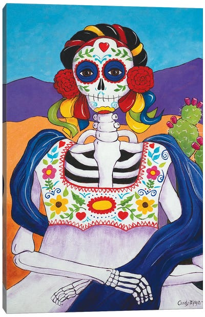 Mexican Mona Lisa Canvas Art Print