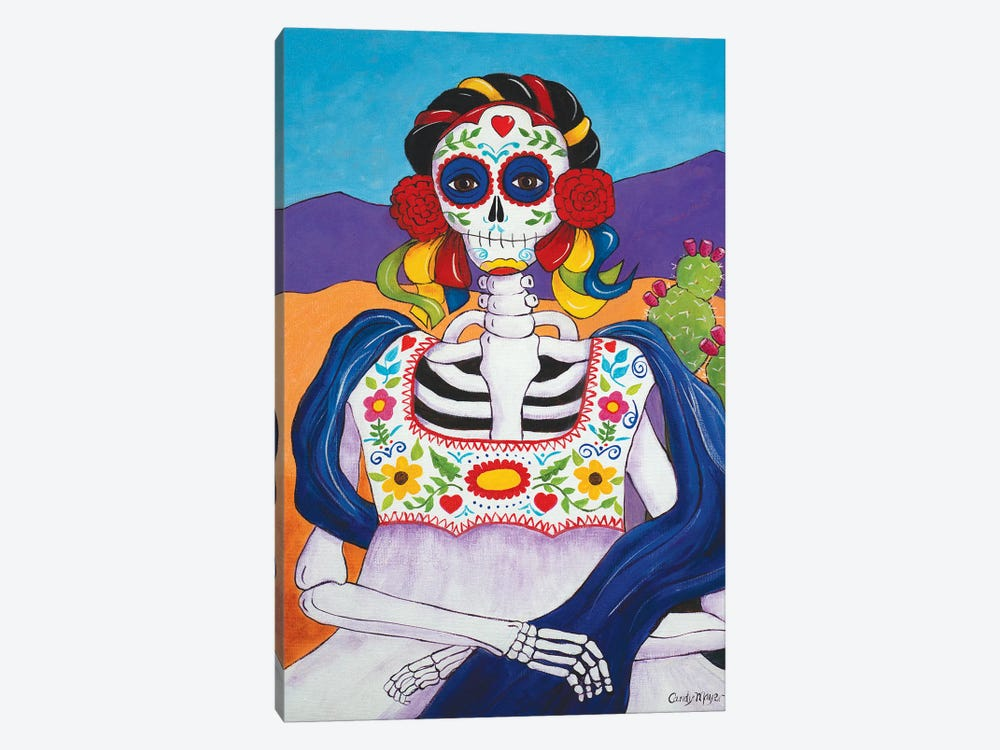 Mexican Mona Lisa by Candy Mayer 1-piece Canvas Artwork