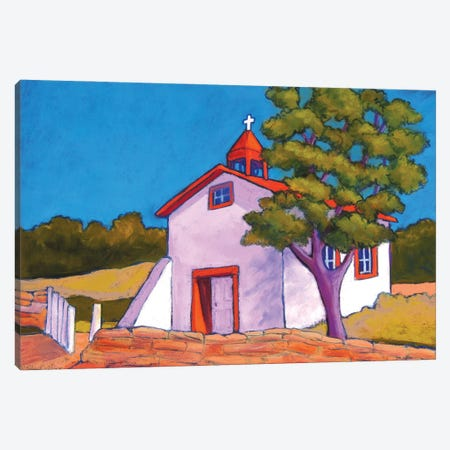 New Mexico Church Canvas Print #CMY43} by Candy Mayer Art Print