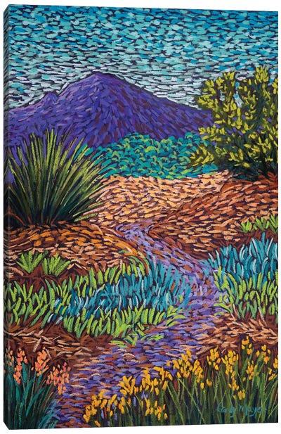 Purple Mountain Path Canvas Art Print