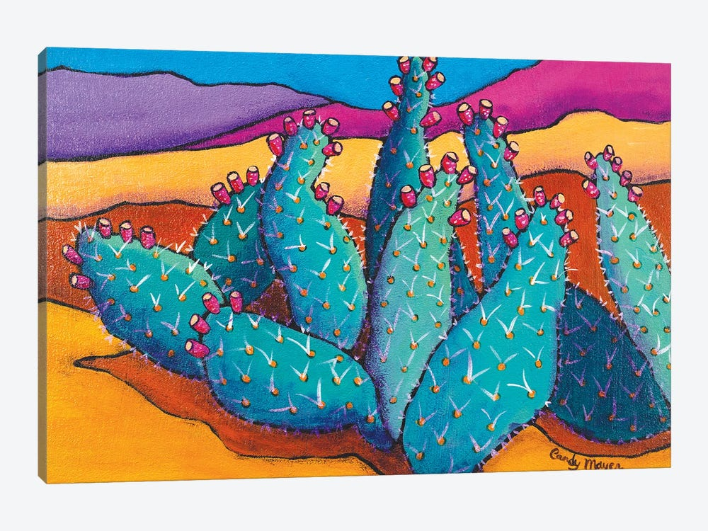 Cactus by Candy Mayer 1-piece Canvas Art Print