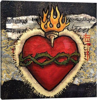 Sacred Heart With Thorns Canvas Art Print