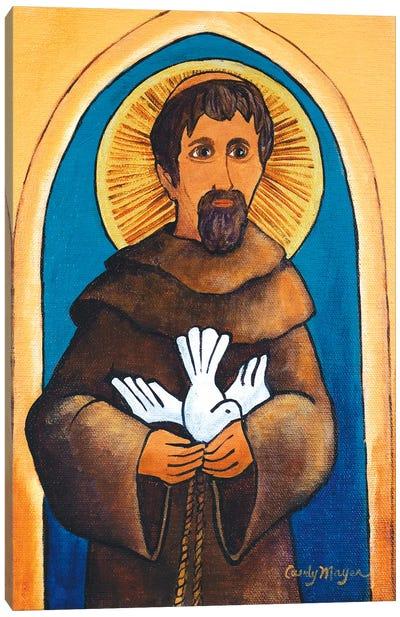 Saint Francis With Dove Canvas Art Print