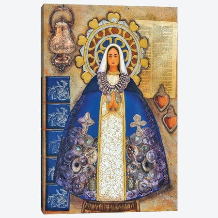 Silver Madonna Canvas Print #CMY56} by Candy Mayer Art Print