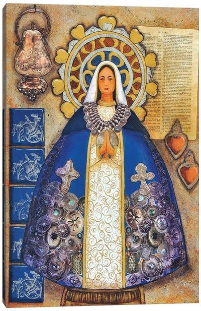 Silver Madonna Canvas Art Print