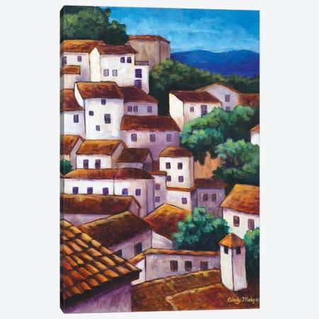 Spanish Village Canvas Print #CMY57} by Candy Mayer Canvas Art Print