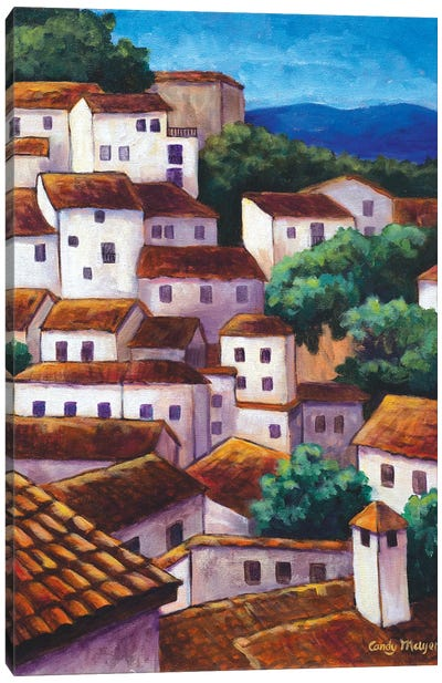Spanish Village Canvas Art Print