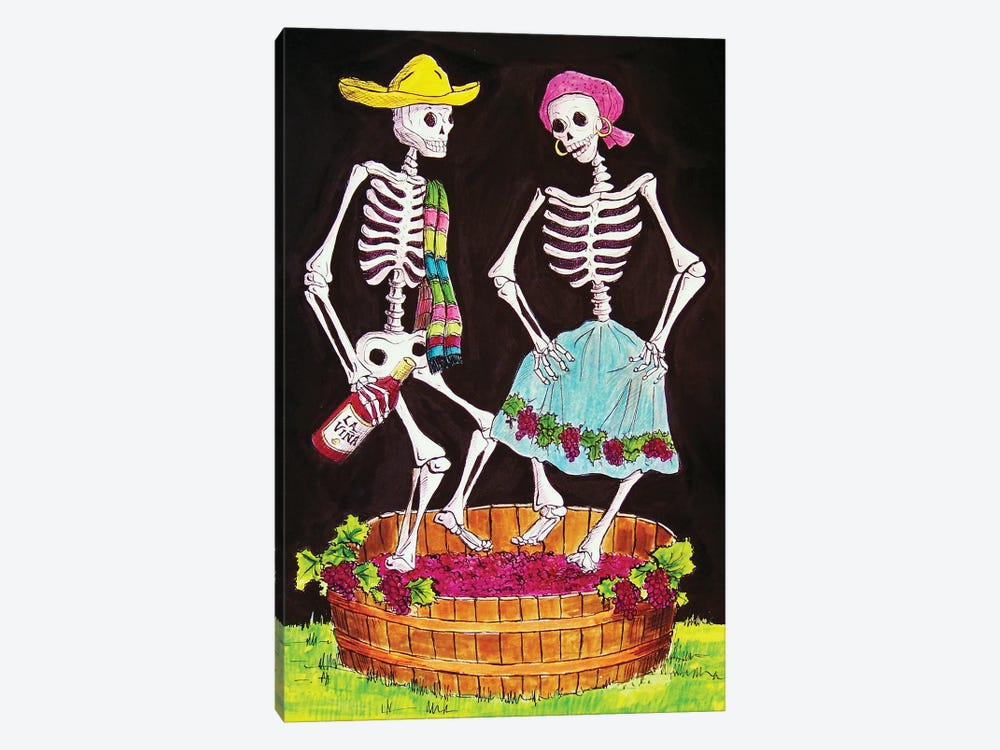 Stomping Grapes by Candy Mayer 1-piece Art Print