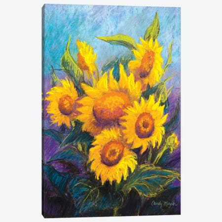 Sunflowers Canvas Print #CMY61} by Candy Mayer Art Print