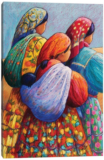Tarahumara Women Canvas Art Print