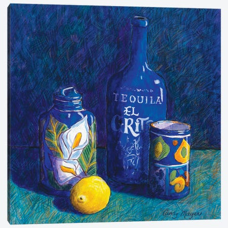 Tequila And Talavera Canvas Print #CMY64} by Candy Mayer Canvas Artwork