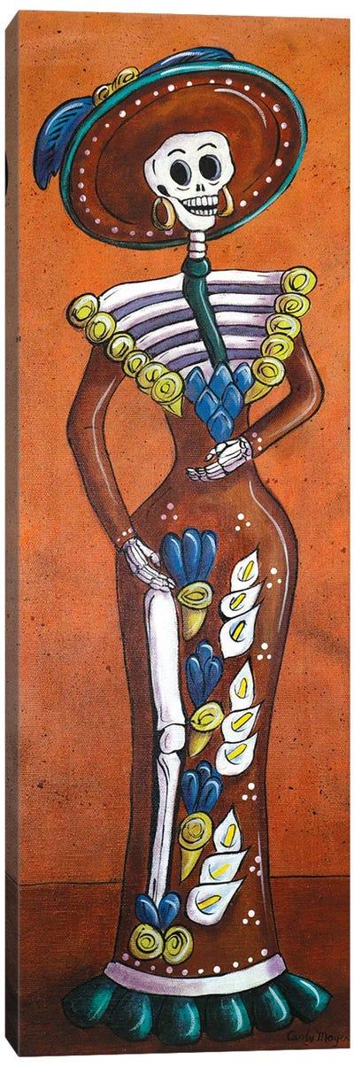Terracotta Catrina Canvas Art Print