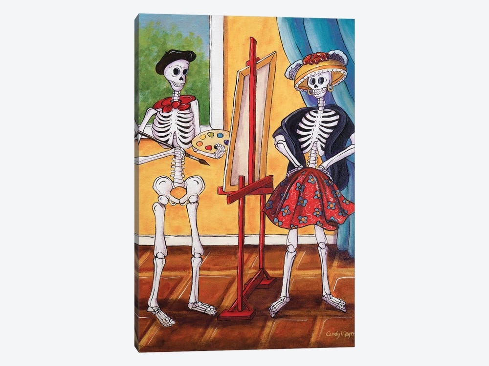The Artist And The Model by Candy Mayer 1-piece Canvas Artwork