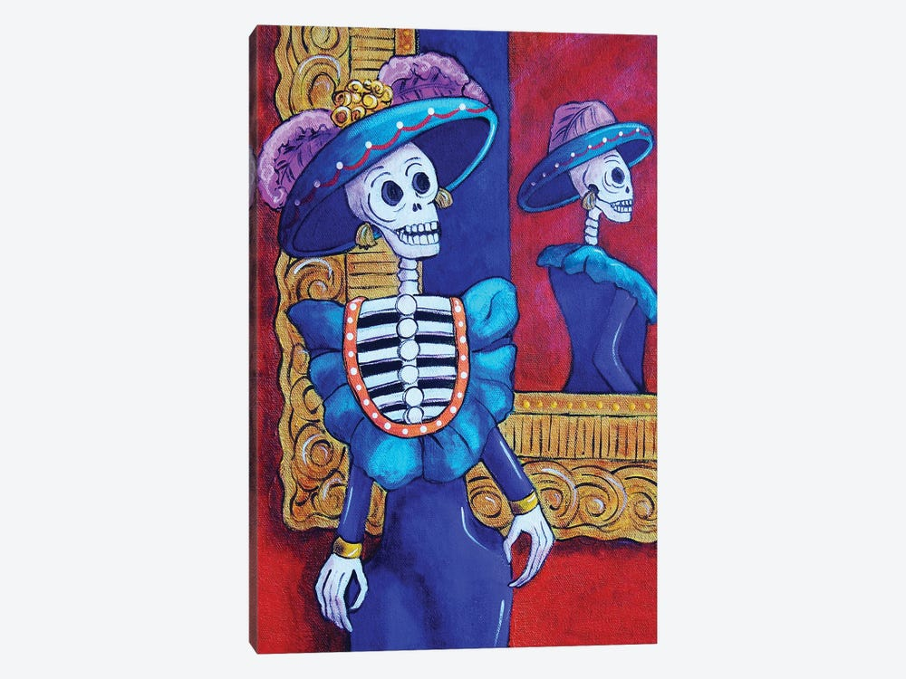 Catrina In The Mirror by Candy Mayer 1-piece Art Print