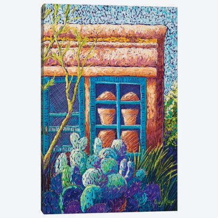 The Pottery Shop Canvas Print #CMY71} by Candy Mayer Canvas Artwork