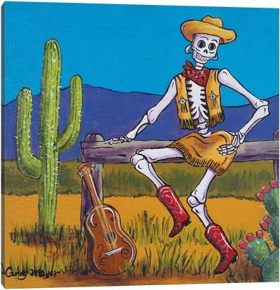 Western Cowgirl Canvas Art Print