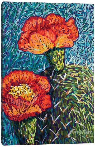 Prickly Pear In Orange Canvas Art Print