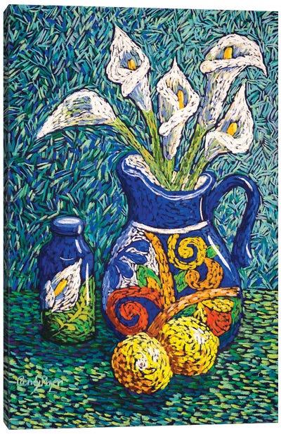 Talavera And Lilies Canvas Art Print