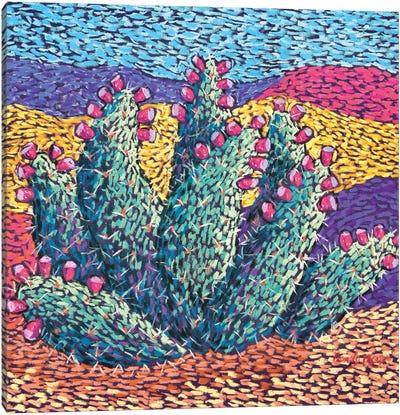 Bright cactus in Pastel Canvas Art Print