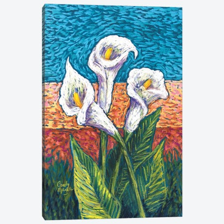 Calla Lilies in Pastel Canvas Print #CMY88} by Candy Mayer Canvas Print