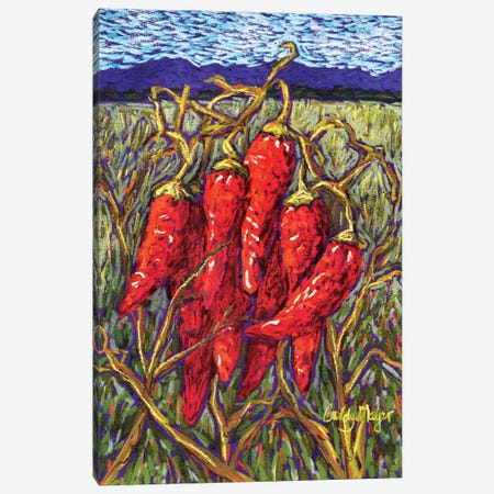 Chiles in Pastel 3-Piece Canvas #CMY89} by Candy Mayer Canvas Print