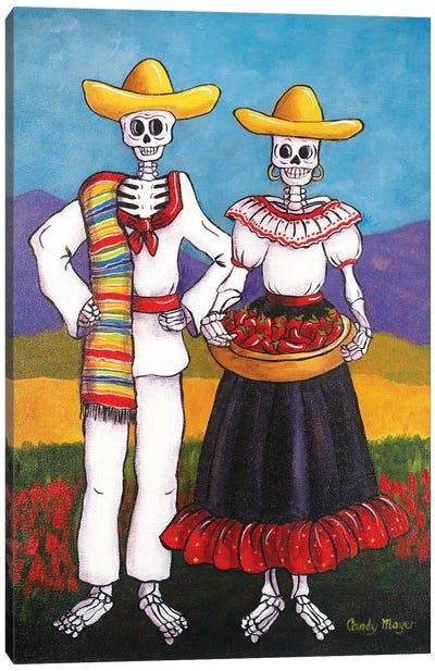Chile Farmers Canvas Art Print