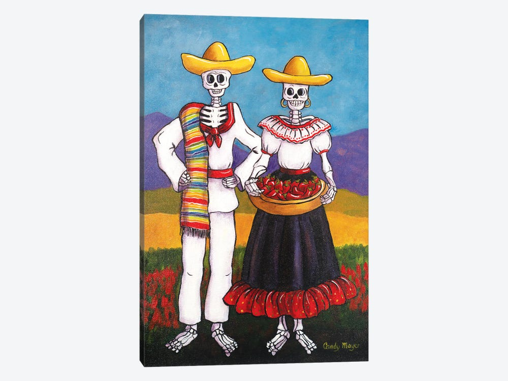 Chile Farmers by Candy Mayer 1-piece Canvas Art Print