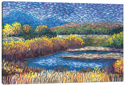 Fall on the River Canvas Art Print