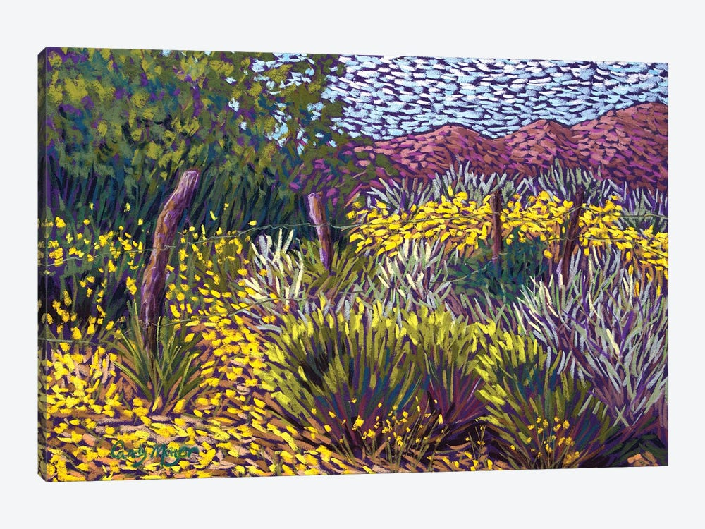 Yellow Fields by Candy Mayer 1-piece Canvas Print