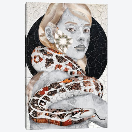 Snake With Friend Canvas Print #CMZ13} by Charlie Moon Art Print