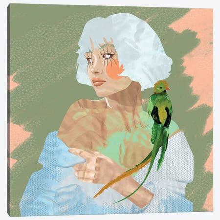 Quetzal With Friend Canvas Print #CMZ18} by Charlie Moon Canvas Print