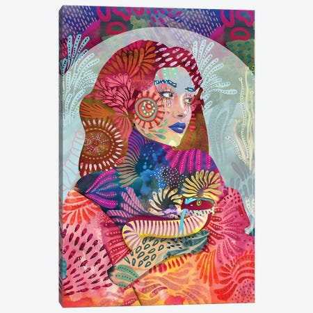Python With Friend Canvas Print #CMZ29} by Charlie Moon Canvas Artwork