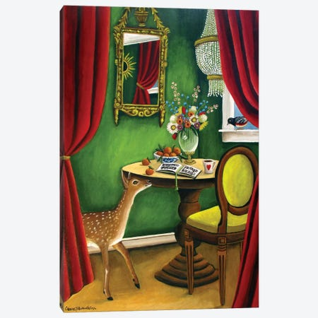 Deer Canvas Print #CNO10} by Catherine A Nolin Canvas Wall Art