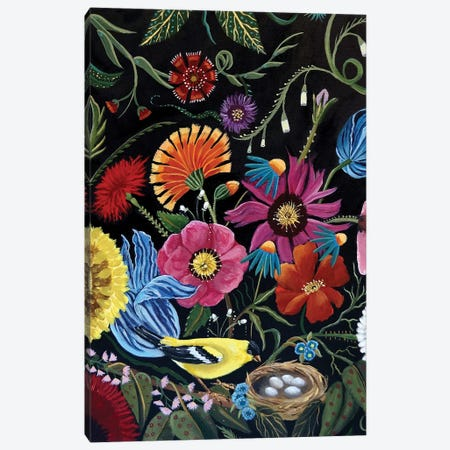 Finch Canvas Print #CNO13} by Catherine A Nolin Canvas Art