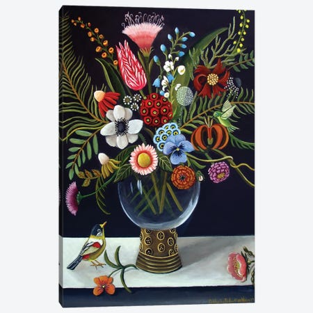 Floral Best 3-Piece Canvas #CNO14} by Catherine A Nolin Canvas Art Print