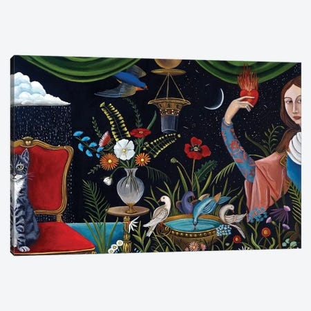 Katrina's World 3-Piece Canvas #CNO18} by Catherine A Nolin Canvas Wall Art