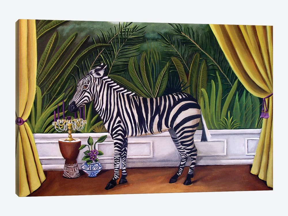 Zebra by Catherine A Nolin 1-piece Canvas Print