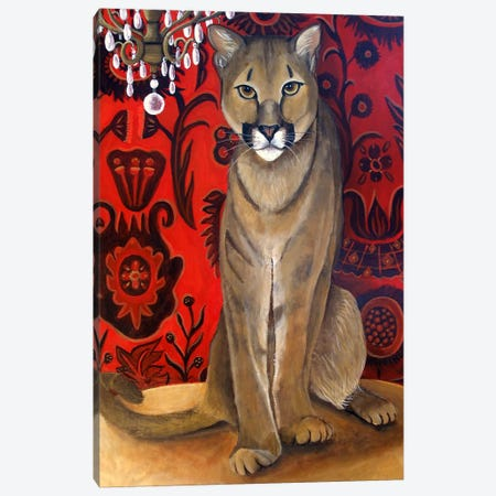 Best Cougar II Canvas Print #CNO3} by Catherine A Nolin Canvas Artwork